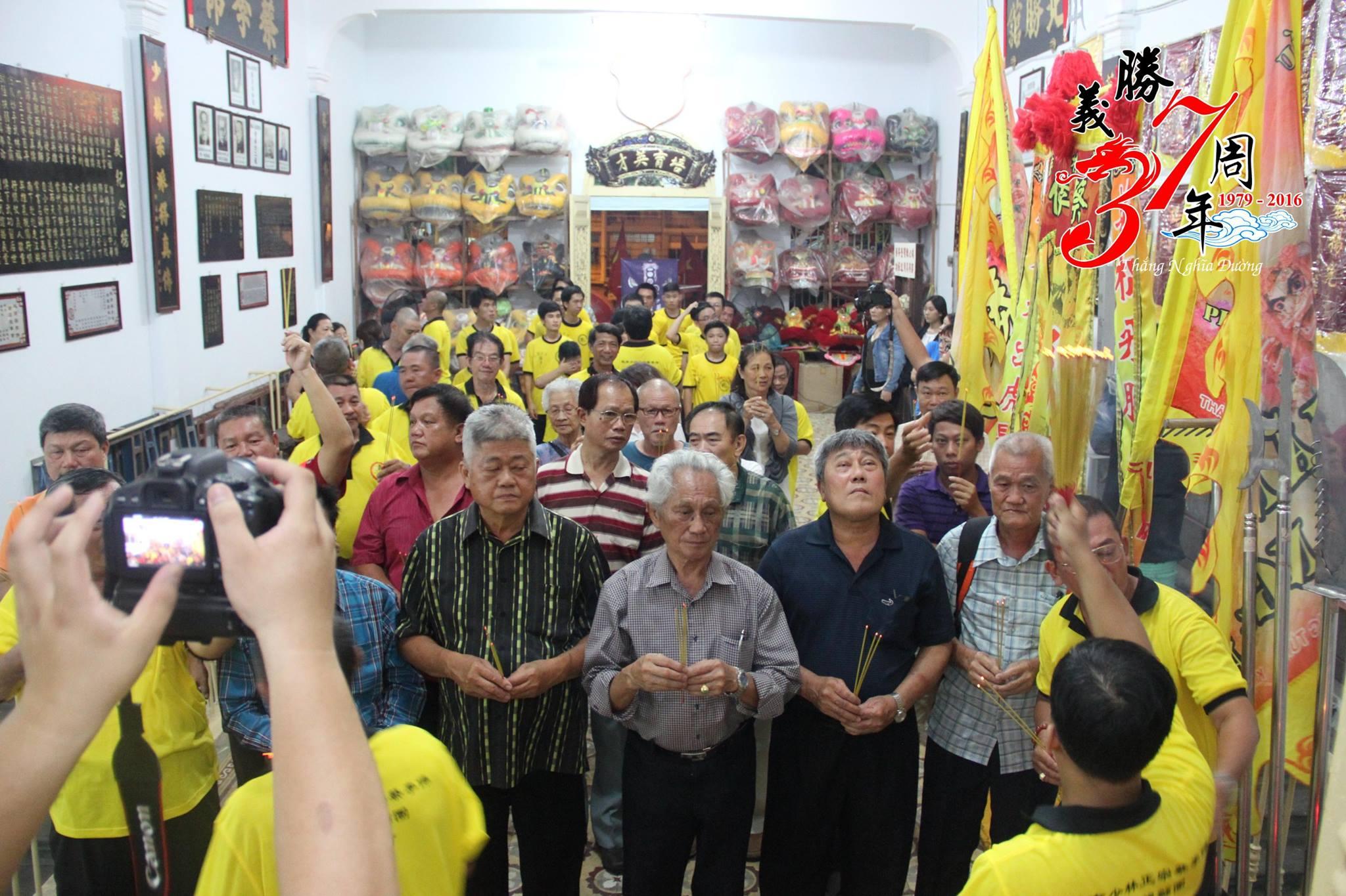 Đồng môn Singapore & Malaysia tham quan võ đường Thắng Nghĩa Đường 2016
